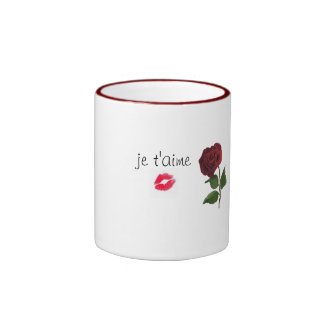 je t'aime tasse ringer coffee mug