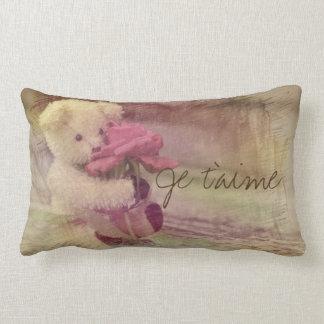 Je T'Aime Teddy Bear Dreaming Lumbar Cushion