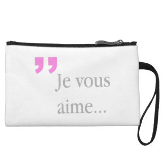 JE VOUS AIME French White Mini Clutch