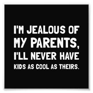 Jealous Of Parents Photo Print