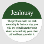 Jealousy Round Sticker