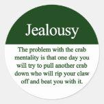 Jealousy Round Sticker