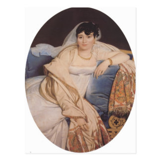 Jean Auguste Ingres- Portrait of Madame Riviere Post Card