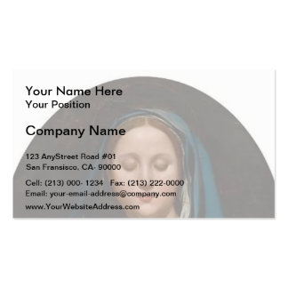 Jean Auguste Ingres- The Virgin of the Blue Veil Business Card Templates