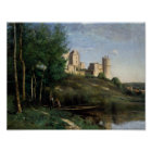 Jean-Baptiste-Camille Corot - Ruins of the Chateau Poster