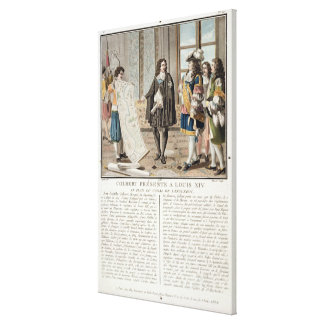 Jean Baptiste Colbert (1619-83) presents the map o Canvas Print