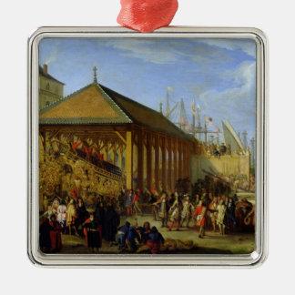 Jean-Baptiste Colbert  Marquis de Seignelay Silver-Colored Square Decoration