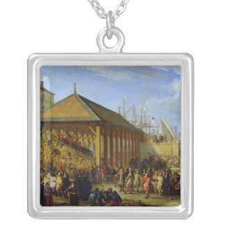 Jean-Baptiste Colbert  Marquis de Seignelay Silver Plated Necklace
