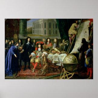 Jean-Baptiste Colbert Presenting Royal Poster