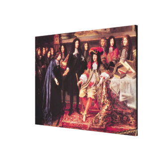 Jean-Baptiste Colbert  Presenting the Members Canvas Print
