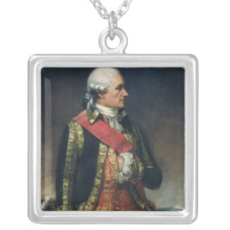 Jean-Baptiste de Vimeur  Count of Rochambeau Silver Plated Necklace