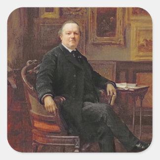 Jean-Baptiste Foucart  1894 Square Sticker