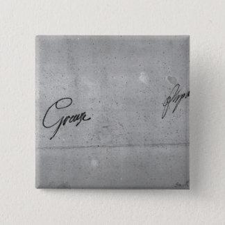 Jean-Baptiste Greuze's signature 15 Cm Square Badge