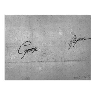 Jean-Baptiste Greuze's signature Postcard