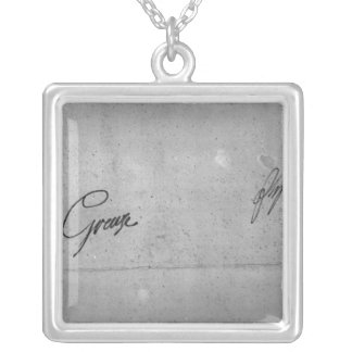Jean-Baptiste Greuze's signature Silver Plated Necklace