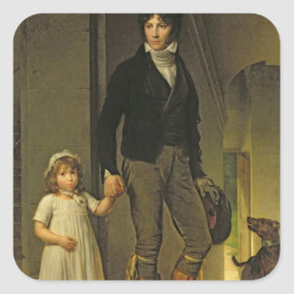 Jean-Baptiste Isabey  and his Daughter Square Sticker