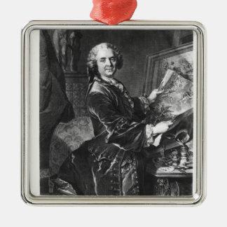 Jean Baptiste Masse Silver-Colored Square Decoration