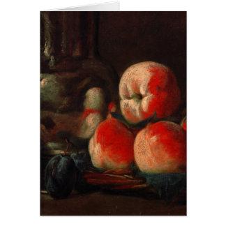 Jean-Baptiste-Simeon Chardin - Still life with tin Greeting Card