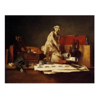 Jean-Baptiste-Simeon Chardin-The Attributes of Art Postcard