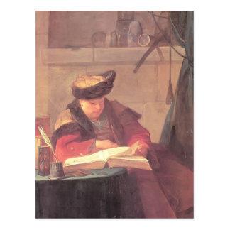 Jean- Chardin- A Chemist in his Laboratory Postcard