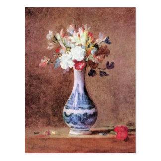 Jean Chardin - Flowers in a Vase Postcard