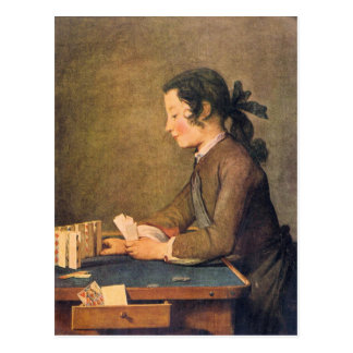 Jean Chardin - House of Cards Postcard
