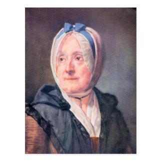 Jean Chardin - Portrait of Mrs Chardin Postcard