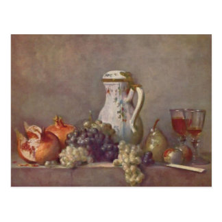 Jean Chardin- Still life with porcelain teapot Postcard