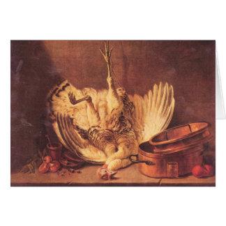 Jean Chardin - Still Life with turkey Note Card