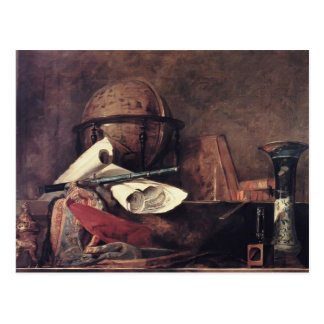 Jean Chardin- The Attributes of the Sciences Postcard