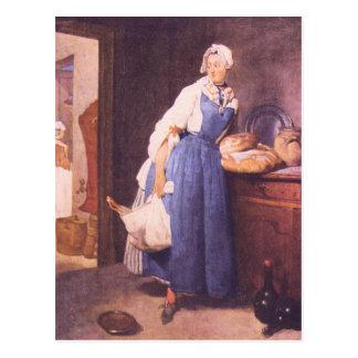 Jean Chardin - The bread Postcard