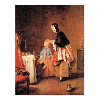 Jean Chardin - The morning toilet Postcard