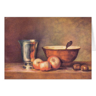 Jean Chardin - The silver cup Note Card