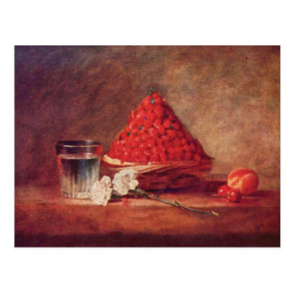 Jean Chardin - The strawberry basket Postcard