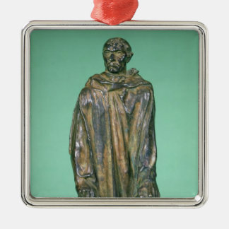 Jean d'Aire, from the Burghers of Calais (bronze) Silver-Colored Square Decoration