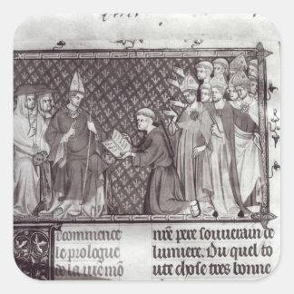 Jean d'Antioch before Martin IV Square Sticker