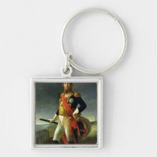 Jean-de-Dieu Soult  Duke of Dalmatia, 1856 Silver-Colored Square Key Ring