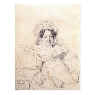 Jean Dominique Ingres-Madame Louis-Francois Bertin Postcard