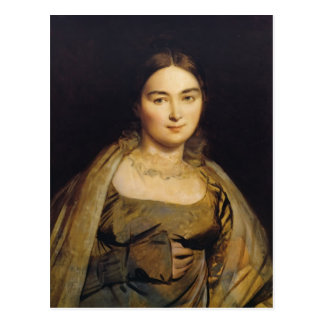 Jean Dominique Ingres- Portrait of Madame Ingres Postcard