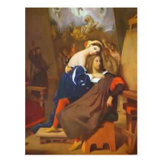 Jean Dominique Ingres- Raphael and Fornarina Postcard