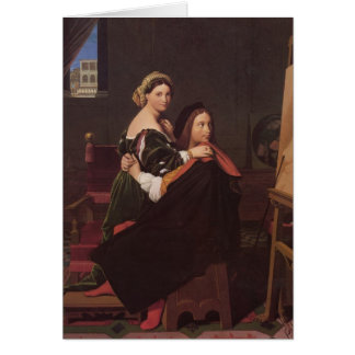 Jean Dominique Ingres- Raphael and the Fornarina Greeting Card