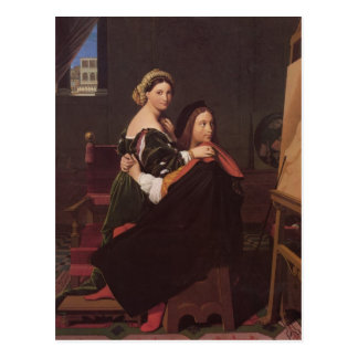 Jean Dominique Ingres- Raphael and the Fornarina Postcard