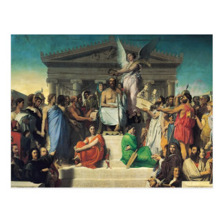 Jean Dominique Ingres- The Apotheosis of Homer Post Card