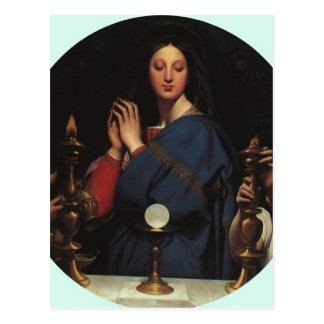 Jean Dominique Ingres- The Virgin of the Host Post Card