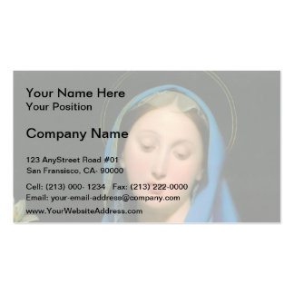 Jean Dominique Ingres- Virgin of the Adoption Business Card Template
