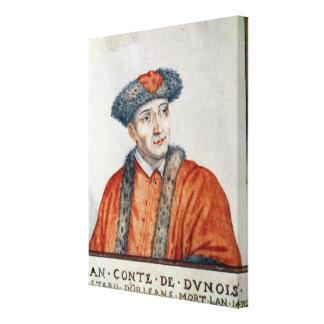 Jean d'Orleans  Count of Dunois Canvas Print