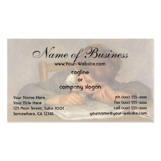 Jean Drawing by Pierre Auguste Renoir Business Card Templates