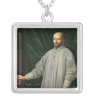 Jean Duvergier de Hauranne  Abbot of Silver Plated Necklace