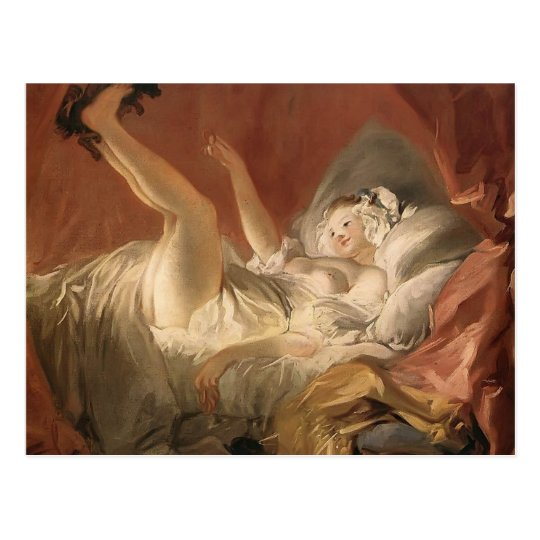 Jean Fragonard- Young Woman Playing with a Dog