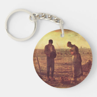Jean-Francois Millet- The Angelus Acrylic Key Chains